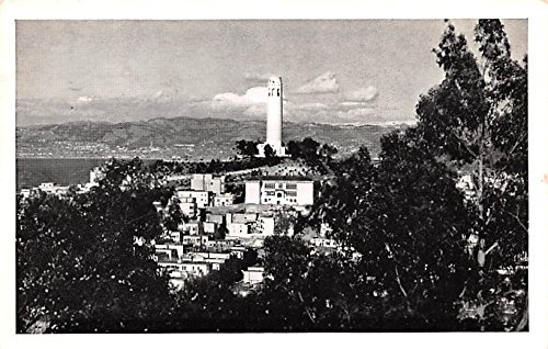 Coit Tower on Telegraph Hill San Francisco, California postcard