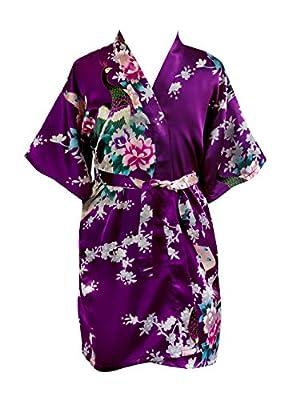 Children Kimono Robe - Peacock & Blossom