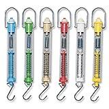 Sciencent Set of 6 Spring Balance Hanging Spring Scale Set