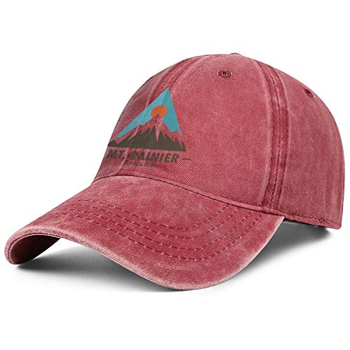 MT Mount Rainier National Park Denim Baseball Hat Hip Hop Cotton Adjustable Cap Dad Unisex