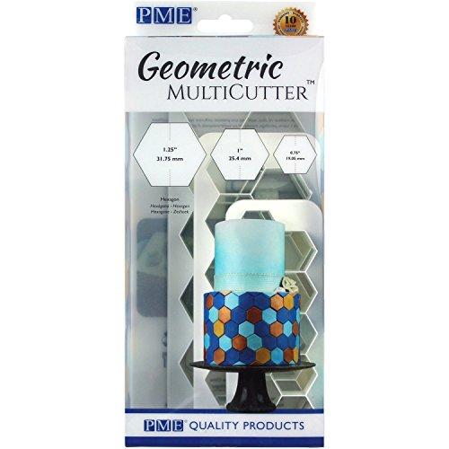 PME GMC104 Geometric Multicutter-Hexagon, Set of 3 Cake Design, - Hexagon Geometric