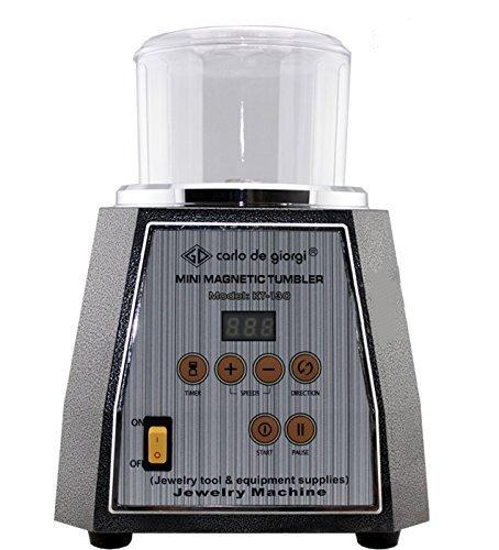 BAOSHISHAN KT-130 110V/220V 磁気バレル研磨機600g 磁気タンブラー マグネチックポリッシャー タイマー付 正反転可能 バリ除去 金属磨き ジュエリー工具 研磨ツール (220V)  220V B07B4W25GP