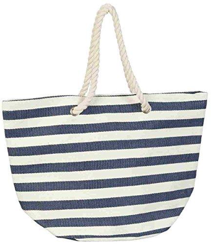 Shopper Sac Plage Bleu Eef Bag129 De Rayé blanc amp;sac Clayre 6ATSfPqn
