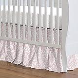 Carousel Designs Pink Filigree Crib Skirt Gathered 20-Inch Length