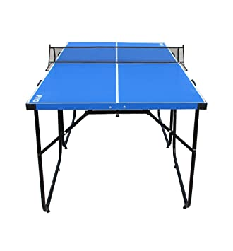 IFOYO Table Tennis Table, 6ft Midsize Ping Pong Table Compact 4 Piece  Folding Ping