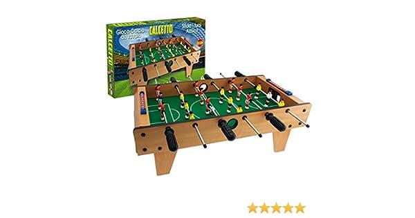 634454 Futbolín de mesa CALCETTO TEOREMA de madera y 6 líneas 69 x ...