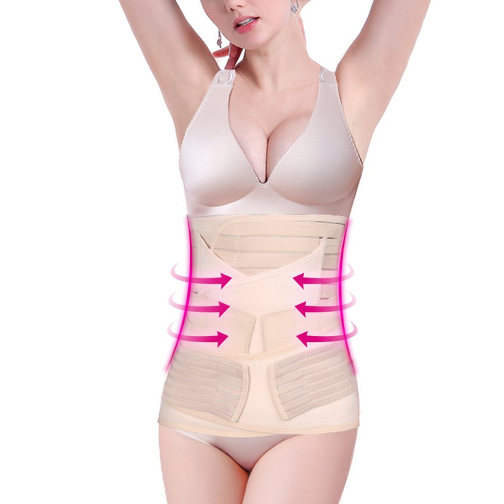 Postpartum Support - Elastic Abdominal and Waist Band Pelvis Recovery Belt Postnatal Body Slimming Shapewear Yosoo