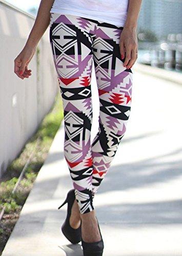 トークダーベビルのテス警告wlgreatsp 女性 ファッションプリント スリムパンツ ストレッチレギンスパンツ