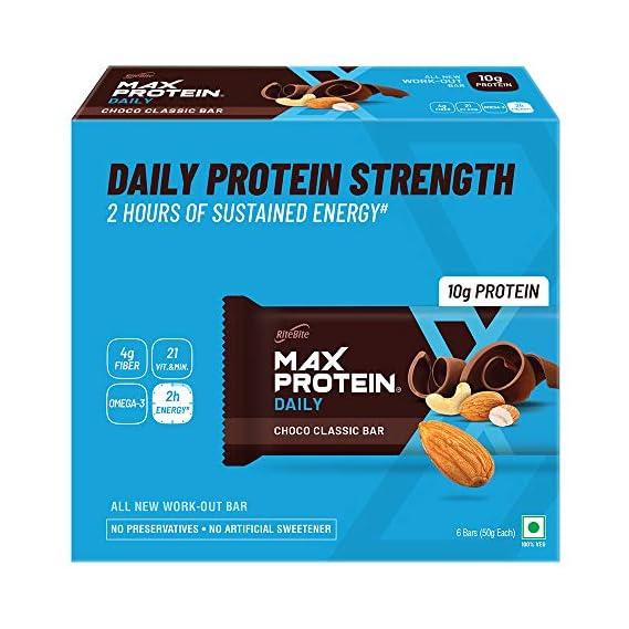 RiteBite Max Protein Daily Choco Classic Energy Bars (300 g, 50 g x 6) - Pack of 6