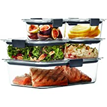 Rubbermaid Brilliance Food Storage Container, Clear, 10-Piece Set 1976520
