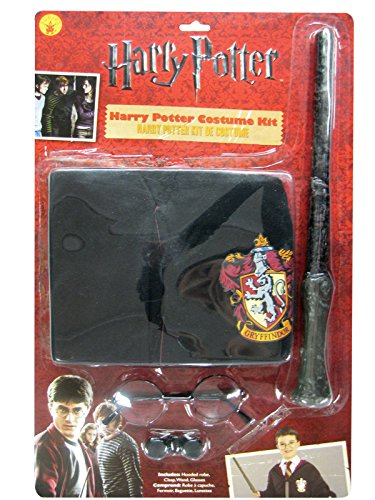 New Harry Potter Child's Costume Robe Wand Glasses Set -