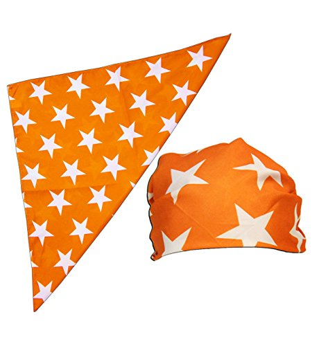 Macho Man Star Printed Costume Bandana and Glasses Set (Orange)