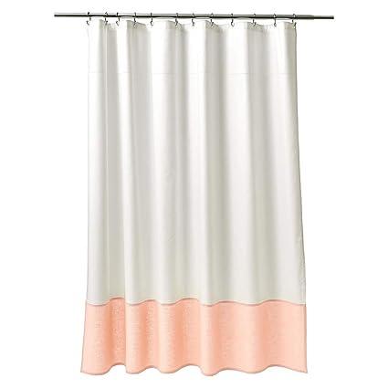 Amazon Fieldcrest Shower Curtain White Peach Electronics