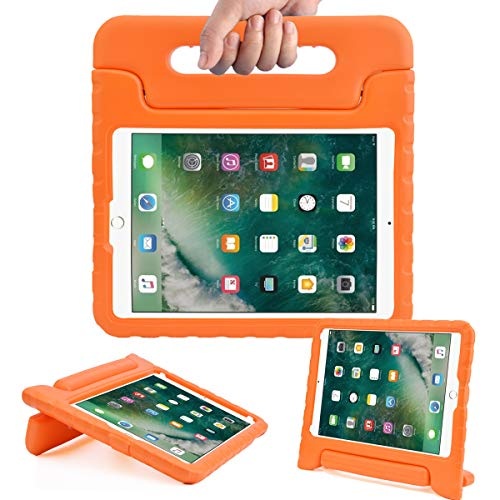 AVAWO Kids Case for New iPad 9.7 2017 & 2018 Release - Light Weight Shock Proof Convertible Handle Stand Friendly Kids Case for iPad 9.7-inch 2017 & 2018 Latest Gen (iPad 5th & 6th Gen) - Orange
