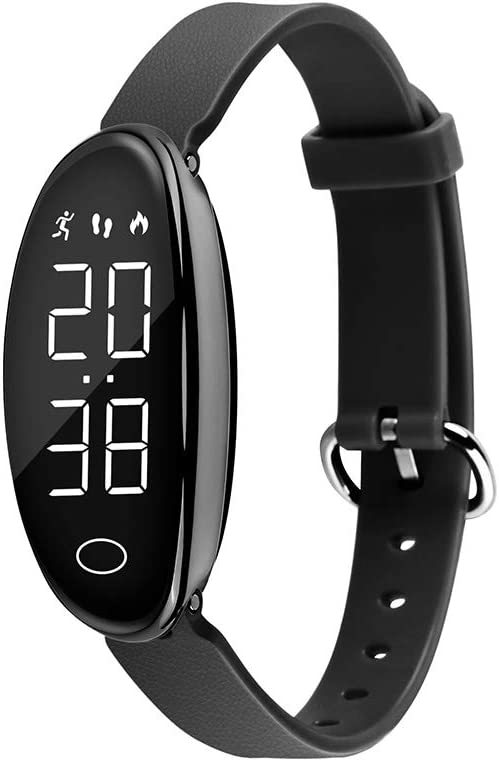 iGANK Pedometer Watch Simple Fitness Tracker Walking Pedometers Step Counter Calorie Counter for Women Kids,No App Required