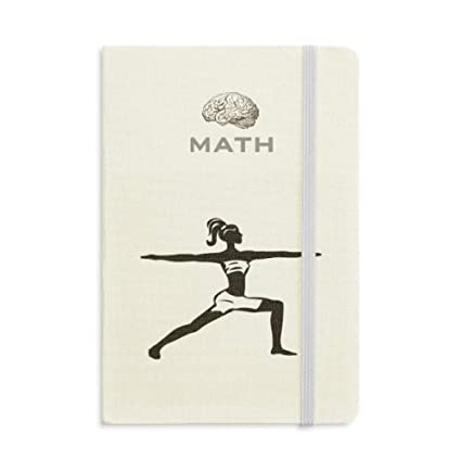 Yoga Girl Keep Healthy Sports Silhouette Math - Cuaderno de ...