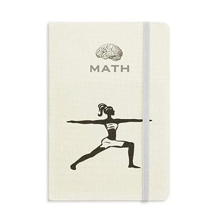 Yoga Girl Keep Healthy Sports Silhouette Math - Cuaderno de ...