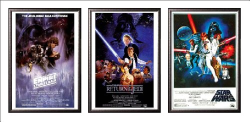 FRAMED Set Of 3 - Star Wars Original Classics Movie 24x36 Po