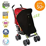 SnoozeShade Original | Stroller sunshade and blackout blind | Blocks 99% of UV | Air-permeable and universal fit