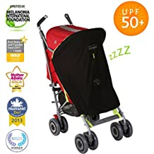 SnoozeShade Original   Stroller sun shade and blackout blind   Blocks 99% of UV   Air-permeable and universal fit
