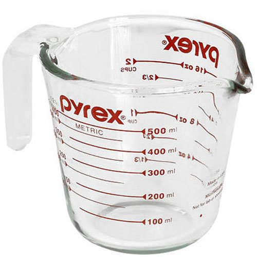 Pyrex Prepware 2-Cup Glass Measuring - Glass Measure