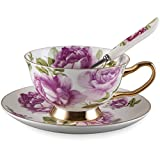 Neolith Royal Country Roses Vintage Teacup and Saucer with Spoon