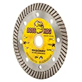 Boss Hog 4 1/2' (4 1/2-Inch) X .080 X 7/8'-5/8' Wet/Dry Diamond Blade for Cutting Masonry, Concrete, Stone and Similar Materials