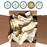 123 Treats - Rawhide Chips for Dogs | Quality Bulk Dog Rawhide Chews - No Additives, Chemicals or Hormones from Natural Grass Fed Livestock