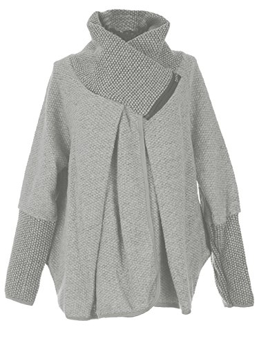 Layer Blanc GG Veste Manches Zip Oversize Hiver Cape Cocoon Italienne Mesdames Laine Poncho Quirky Longues Manteau Lagenlook Femmes wT7rTRxSqY