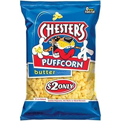 Chester's Puffcorn Butter Puffed Corn Snacks, 3.5 Oz (Pack of 6)