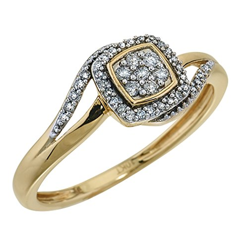 Diamond Engagement Ring in10k Yellow Gold