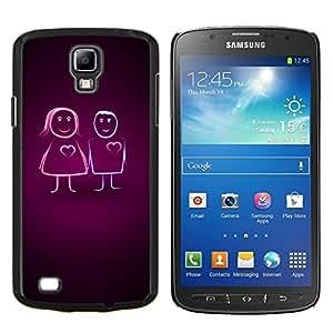 Caucho caso de Shell duro de la cubierta de accesorios de protección BY RAYDREAMMM - Samsung Galaxy S4 Active i9295 - Parejas Amor