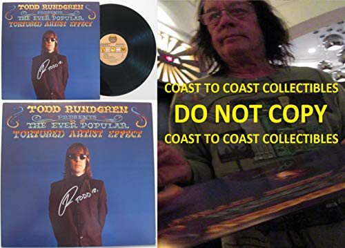 Todd Rundgren signed, autographed, The Ever Popular Tortured Artist Effect Album, Vinyl Record, COA with the Proof Photo will be included. STAR (Effects Album)