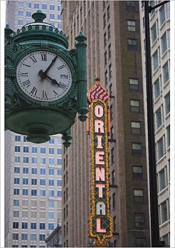 A1 Poster Of Marshall Field Building Clock And Oriental