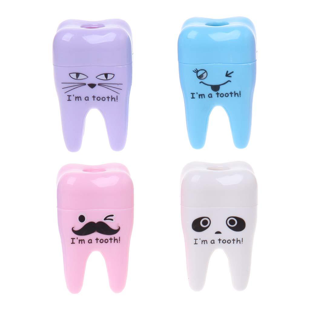 jiamins creativo dente Forma temperamatite temperamatite matita meccanica Scuola necessità