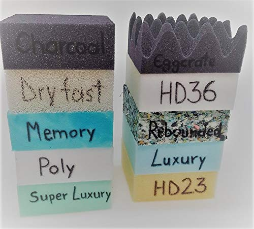Upholstery Foam Open Cell Foam Sampler Pack Great For Seat