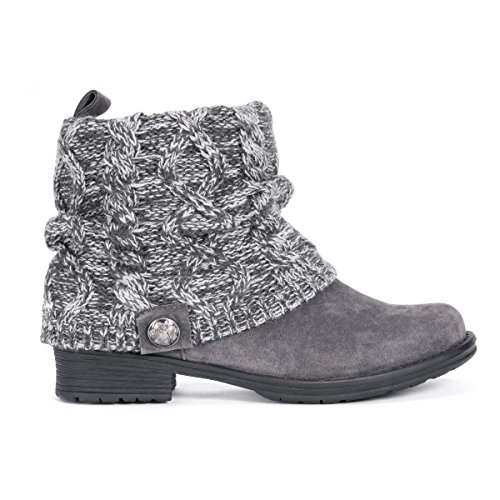 Muk Luks Women's Pattrice Boots Fashion, Grey, 11
