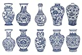 Shayier China Intangible Cultural Heritage -- Chinese Color Handmade Paper-cut (Blue and White Porcelain)