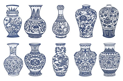 Shayier China Intangible Cultural Heritage -- Chinese Color Handmade Paper-cut (Blue and White Porcelain) by shayier
