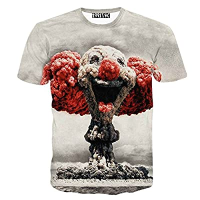 FaPlus Men's Fashion Lifelike Explosion 3D Print T-Shirts