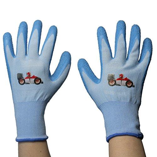 Children Gloves Gardening Work Gloves - PROMEDIX -Gardening Gloves for Children, Gloves for Teens 8-14 Years Old (Blue)