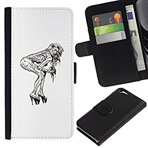 Stuss Case / Funda Carcasa PU de Cuero - Pin Up Zombie - Apple Iphone 6