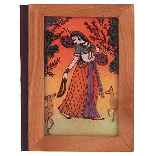 Gemstone Painting on Wood Cover Index Diary Handicraft by Indian Handicrafts Export