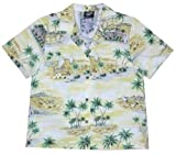 RJC Women Polynesian Island Camp Shirt in Yellow - XXL