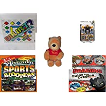 Children's Gift Bundle - Ages 6-12 [5 Piece] - Blurt! The Webster's Game of Word Racing! Game - Mega Bloks Halo UNSC Offworld Cyclops Toy - Walt Disney Company Exclusive Winnie The Pooh Sitting Plus
