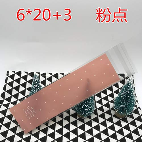 XLPD 100Pcs/Lot Plastic Bags 6X18cm 6X20cm Food Self Sealing Bags Cookie Bags and Packaging 12 -