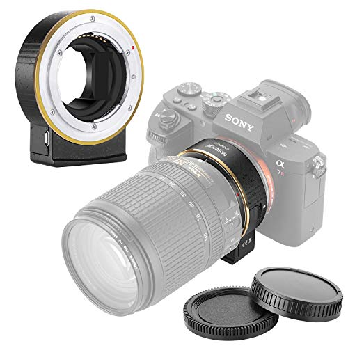 Neewer Electronic AF Lens Mount Adapter Auto Focus Aperture Control Compatible with Nikon f Lens to Sony E-Mount Cameras for Sony A9/A7R3/A7R2/A7M3/A7M2/A6500/A6300/A7R/A7S2/A7S/A7/NEX7/A6000/A5100