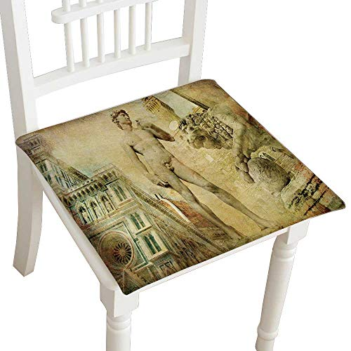 Indoor/Outdoor All Weather Chair Pads Beautiful Florence istic Collage Seat Cushions Garden Patio Home Chair Cushions 28