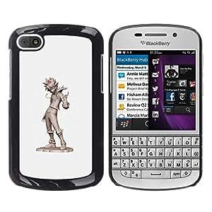 FlareStar Colour Printing Cool Kid Tin Man Grey Character Cgi Japan cáscara Funda Case Caso de plástico para BlackBerry Q10