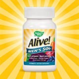 Natures Way Alive!� Mens 50+ Energy Multivitamin Tablets, Fruit and Veggie Blend (100mg per serving), 50 Tablets